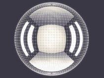 Das abstrakte Rednering 3d global schließen Netz an Stockfotos