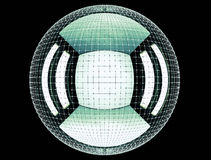 Das abstrakte Rednering 3d global schließen Netz an Lizenzfreie Stockfotografie