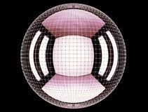 Das abstrakte Rednering 3d global schließen Netz an Stockfotografie