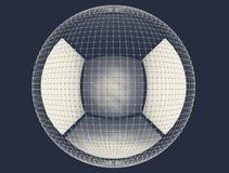 Das abstrakte Rednering 3d global schließen Netz an Lizenzfreies Stockbild