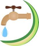 Das abstrakte Symbol des Trinkwassers Stockfotografie