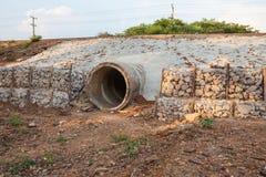 Das Abwasserrohr Stockbilder