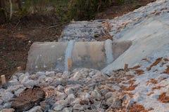 Das Abwasserrohr Stockfoto