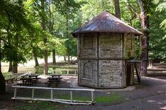 Das achteckige hölzerne pavillion, alias Doras Pavillion I Lizenzfreies Stockbild