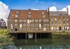 Das achtzehn Jahrhundert, drei Mühlkomplex, London Stockbild