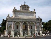 Das ` Acqua Paola alias IL Fontanone ` Fontana-engen Tals, welches das große Brunnen ` ein monumentaler Brunnen ist, fand auf dem Lizenzfreies Stockbild