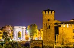Das ACRO-dei Gavi und Castelvecchio ziehen sich in Verona zurück Lizenzfreie Stockfotos