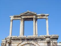 Das Adrianou-Tor bis zum Nacht in Athen Stockbild
