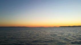 Das adriatische Meer in der Spalte Stockfotos
