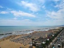 Das adriatische Meer gesehen von oben Lizenzfreies Stockfoto