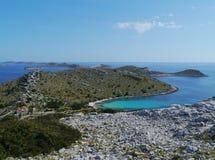 Das adriatische Meer von Kroatien Stockfotos