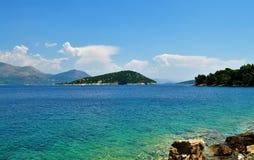 Das adriatische Meer von Sipan-Insel Stockfotos