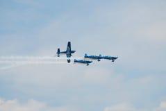 Das aerobatic Bildschirmanzeigeteam der Blätter Lizenzfreies Stockfoto