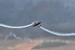 Das aerobatic Bildschirmanzeigeteam der Blätter Lizenzfreies Stockbild