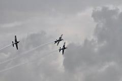 Das aerobatic Bildschirmanzeigeteam der Blätter Lizenzfreie Stockfotografie