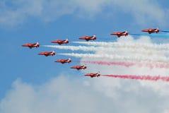 Das aerobatic Team der roten Pfeile Lizenzfreie Stockfotografie