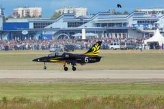 Das aerobatic Team Rus Lizenzfreie Stockfotos