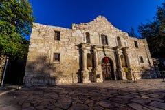 Das Alamo bei Sonnenuntergang, San Antonio, Texas Stockbilder