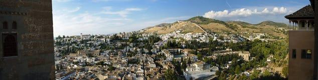 Das Albaicin von Granada vom Nasrid Palast Stockfotografie