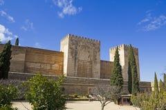 Das Alcazaba, Alhambra in Granada Lizenzfreies Stockbild