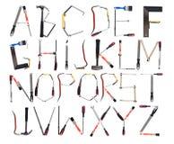 Das Alphabet bildete sich durch Hilfsmittel lizenzfreies stockbild