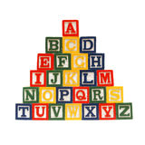 Das Alphabet in den Blöcken Lizenzfreies Stockbild