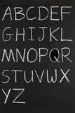 Das Alphabet in den Kapitalien. stockfoto