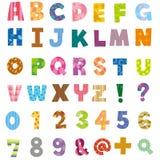 Das Alphabet und die Zahl Lizenzfreies Stockfoto