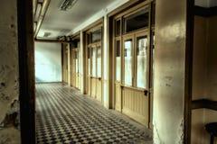 Das alte Büro am Bahnhof Stockfotografie