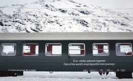 Das alte Bahn-Flamsbana, Flam, Norwegen Lizenzfreies Stockfoto
