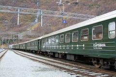 Das alte Bahn-Flamsbana, Flam, Norwegen Lizenzfreie Stockbilder