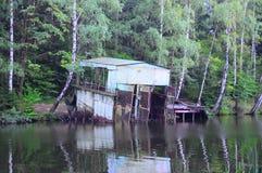 Das alte Bootshaus stockfoto