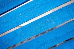 Das alte Brett blau gemalt Stockfoto
