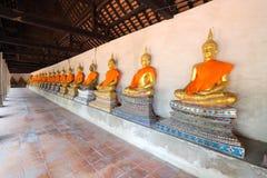 Das alte Buddha-Sitzen Stockfotografie