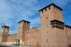 Das alte Castelvecchio von Verona Lizenzfreie Stockbilder
