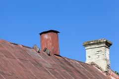 Das alte Dach Lizenzfreie Stockfotos