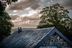 Das alte Dach Lizenzfreies Stockfoto