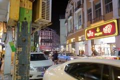 Das alte dazhonglu Straßennachtsichtgerät, luftgetrockneter Ziegelstein rgb Lizenzfreie Stockfotos