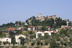 Das alte Dorf in Toskana stockbilder