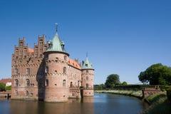 Das alte Egeskov Schloss auf Funen Stockfotografie