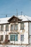 Das alte Einsturzhaus Lizenzfreie Stockfotos