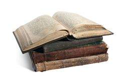 Das alte geöffnete Buch ist christlicher Psalter Lizenzfreies Stockfoto
