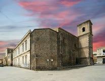 Das alte Gebäude. Acicastello, eisig Stockfotos
