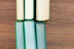 Das alte gebundene Buch bucht Draufsicht Lizenzfreies Stockfoto