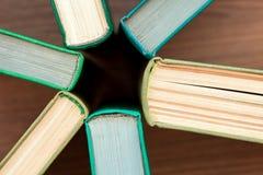 Das alte gebundene Buch bucht Draufsicht Stockbild