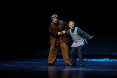 Das alte gekommen mit Jiangxi-Oper eine Laufgewichtswaage Lizenzfreie Stockfotografie
