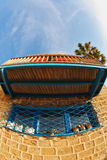 Das alte Haus, im Objektiv Fischauge Lizenzfreie Stockfotografie