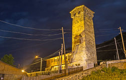 Das alte Haus nachts Stockfotografie