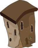 Das alte Haus von Märchen. Karikatur Stockbild