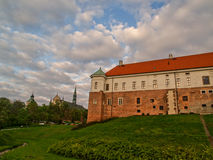 Das alte königliche Schloss in Sandomierz, Polen Lizenzfreies Stockbild